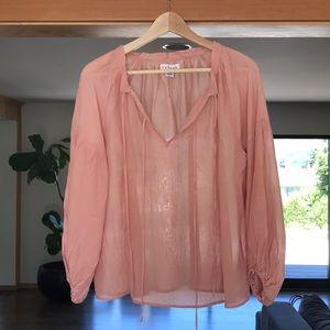 Pink blouse by: Velvet